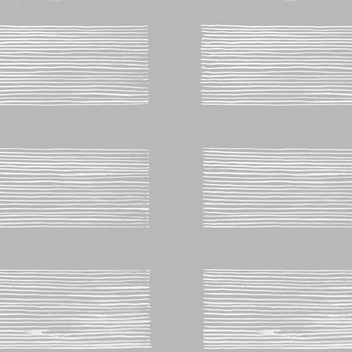 Brett Design Wallpaper Rect Box Stripe White on Gray