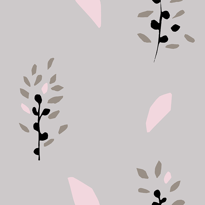 Brett Design Wallpaper Hank Hyacinth Gray and Pink
