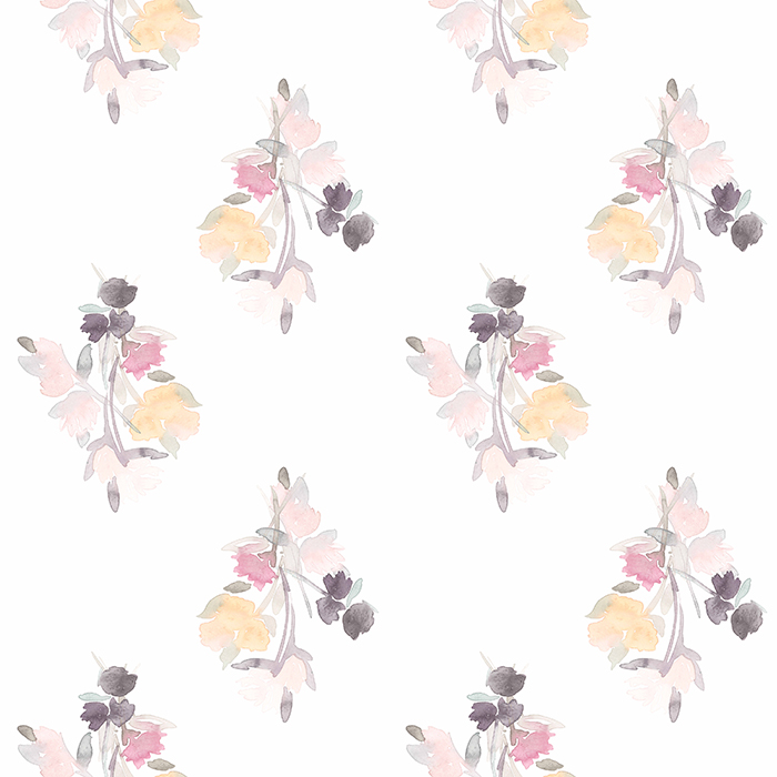 BRETT DESIGN Wallpaper Watercolor Bouquet
