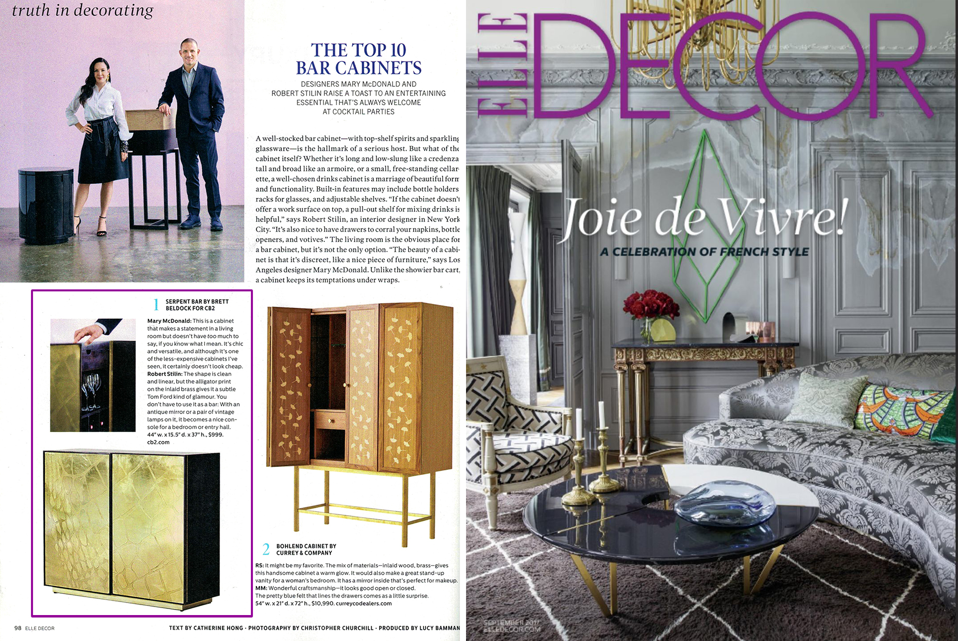 Brett Beldock for CB2 in Elle Decor