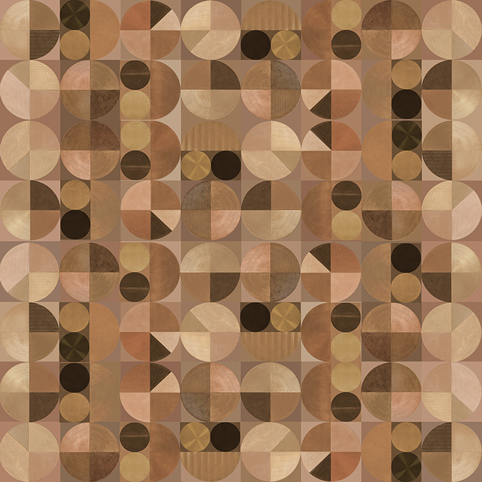 Brett Design Earth Tiles Copper Wallpaper