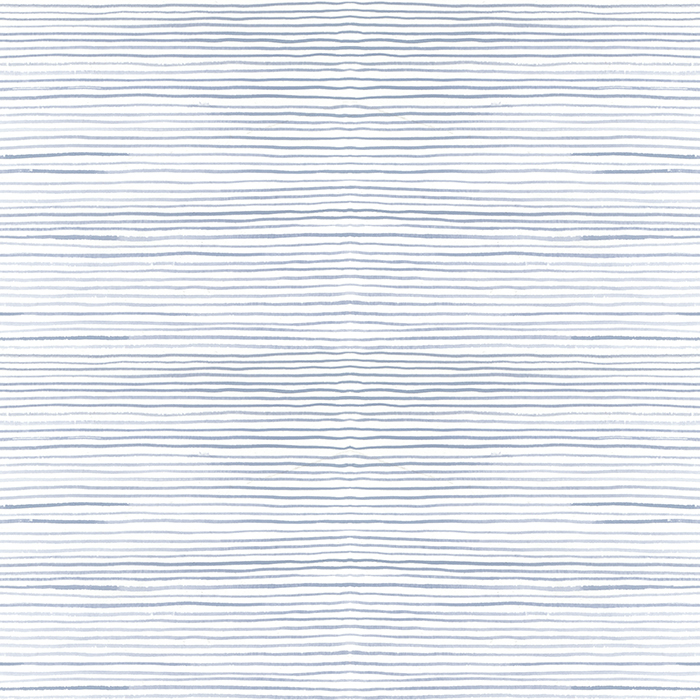 Brett Design Wallpaper Pinstripe Blue on White