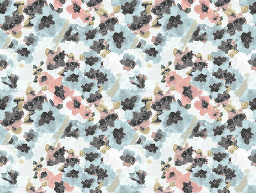 Brett Design Blooming Flowers_Plush_Repeat 48W x 48H featured