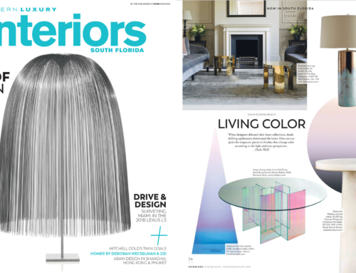 MODERN LUXURY INTERIORS LIVING COLOR FEATURES BRETT DESIGN OMBRE WALLPAPER