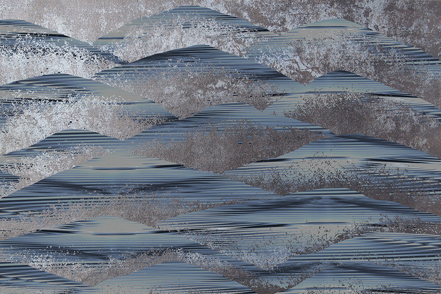 Brett Design Freckled Dunes-A-Ribbed-Blue Ink Wallpaper Featured