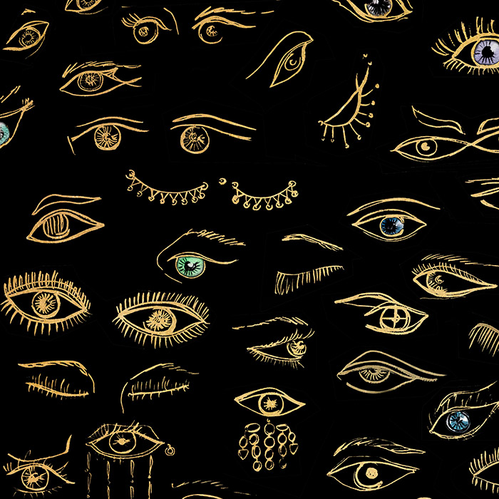 Brett Design Inc Wallpaper Eyes on You On Gold